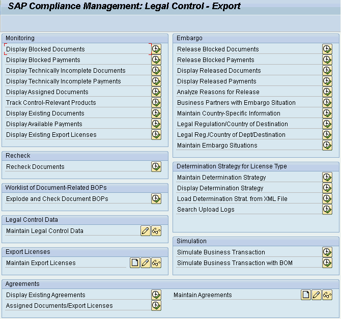 Practical Guide to SAP GTS Part 1: SPL Screening and Compliance Management - Export Menu
