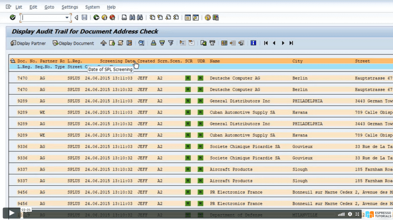 Practical Guide to SAP GTS: SPL Audit Trail Reporting - Documents layout