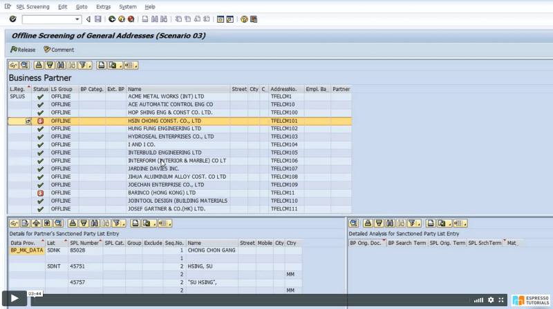 Practical Guide to SAP GTS: SPL Audit Trail Reporting - External adresses