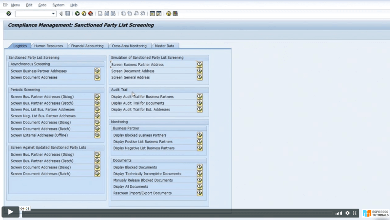Practical Guide to SAP GTS: SPL Audit Trail Reporting - Reporting overview