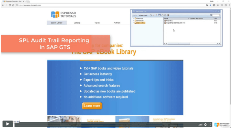 Practical Guide to SAP GTS: SPL Audit Trail Reporting - Video