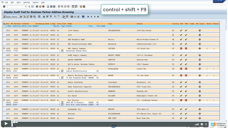 Practical Guide to SAP GTS: SPL Audit Trail Reporting - Exporting Excel